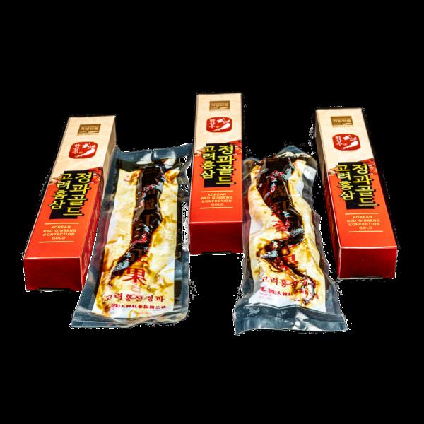 Медовые цукаты с красным корейским женьшенем,корень 30 гр.,GOLD