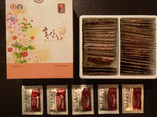 чай с высоким содержанием красного корейского женьшеня SUMJAEUL (Rb1+Rg1+Rg3=7mg в 1 гр)